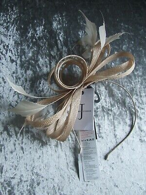 NEW Jasper Conran Natural Amy Feather Fascinator Wedding Party Races