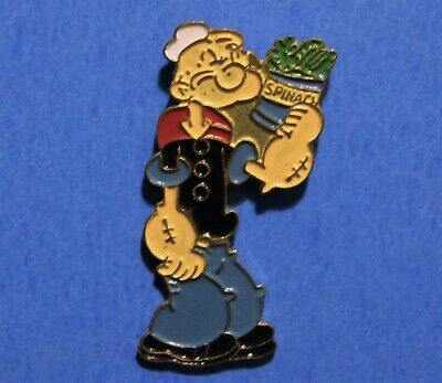 BLUE LABEL CAN COLLECTOR PIN POPEYE LOVES HIS SPINACH