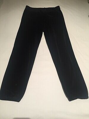 BNWOT Sugar Free Girls Black Velour Joggers Trousers 9 10