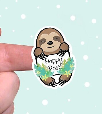 Happy Post Sloth Stickers For Packaging