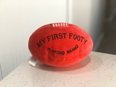 Playgro My First Footy | Baby Soft Plush Football Toy | Baby Rattle | Unisex |