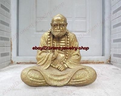 Collectible Chinese Archaic Brass Buddha Sakyamuni statue meditating