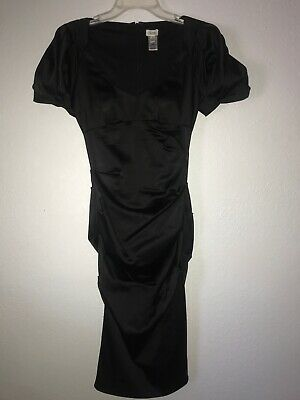 Cache Formal Evening Gown Dress Wedding Prom Size 2 Black Cocktail stretch