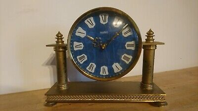 A Stunning Antique West German acctim Brass Mantel Clock