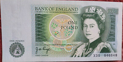 Bank of England £1 Note Series D 1978-1988, excellent condition