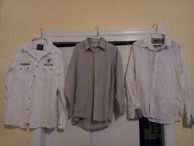 3 dressy shirts lot size large (pierre cardin,company 81,vintage red) collection