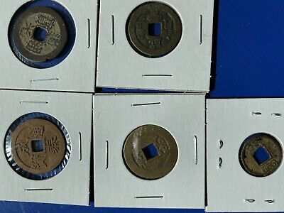 Lot of 5 Old Chinese Coins
