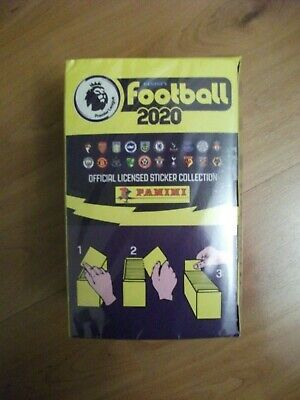 Panini Football Premier League 2020 - an unopened full box of 100 packets