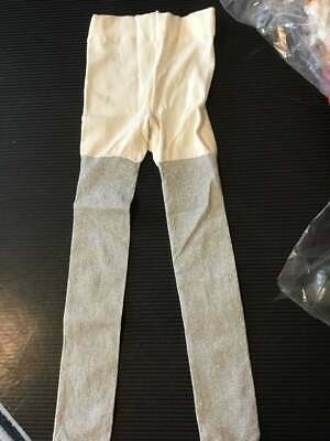 Girls Tights Silver Sparkle Age 2/3