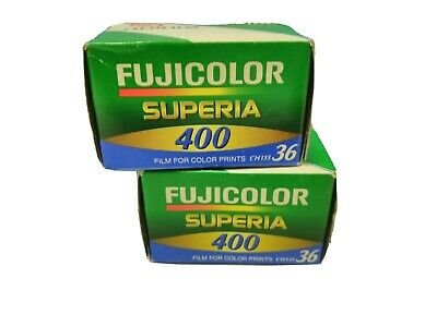 2 Rolls Fuji Fujicolor Superia ISO 400 35mm Color Print Film 36 Exposures
