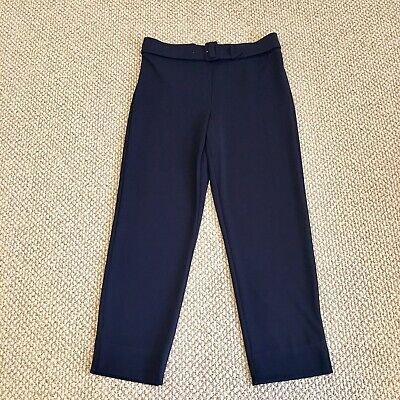 "NWT Ivanka Trump Navy Cropped Stretchy Pants Inseam 28"" Size L"