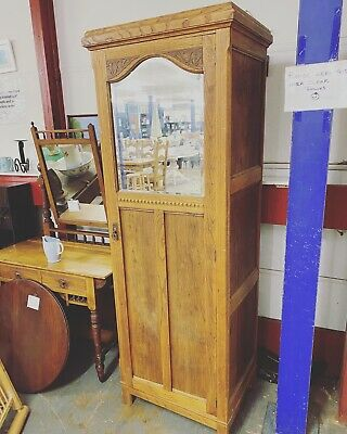 Vintage Wardrobe With Mirror