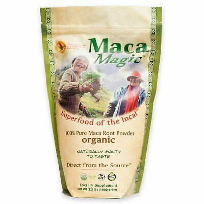 Organic, 100% Pure Maca Root Powder , 2.2 lbs (1000 g) - Maca Magic