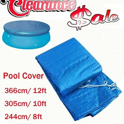 8//9//10//14ft Round Swimming Paddling Pool Cover Inflatable Easy Fast Set Rope