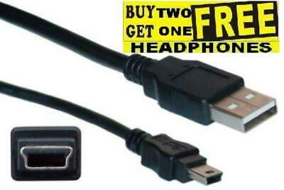 1m Short PSP PS3 Controller Charger Cable Lead Playstation 3 A to MINI B USB 2.0
