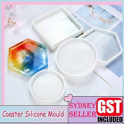 3 Styles Coaster Cup Mat Mold Silicone Mould for Craft DIY Epoxy Resin Casting A