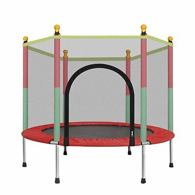 Kids Indoor Mini Trampoline Child Playing Jumping Bed Exercise Enclosure Pad UK