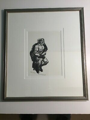 Bernard Brussel-Smith The Boxer Signed Print 63/110 Framed