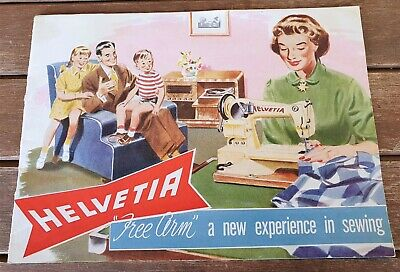 Vintage Helvetia Sewing Machine manual