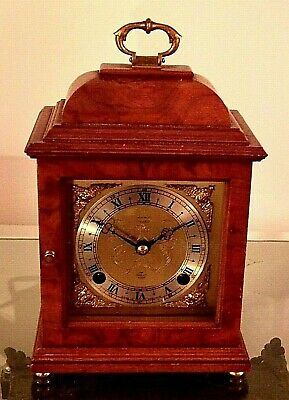 Burr Walnut Elliott 2 x Train Striking Bracket Clock FOR A NURSES FUND