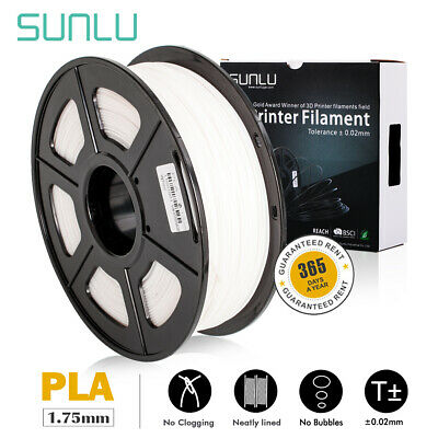 SUNLU PLA White Printer Supplies 1.75mm 1kg Spool Consumables New No Bubble
