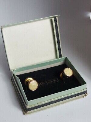 Beautiful Vintage Boxed 20th Century Cuff Links