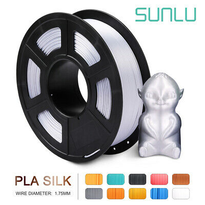 SUNLU 3D PLA Silk Silver Printer Filament 1.75mm 1kg New Supplies No Bubble