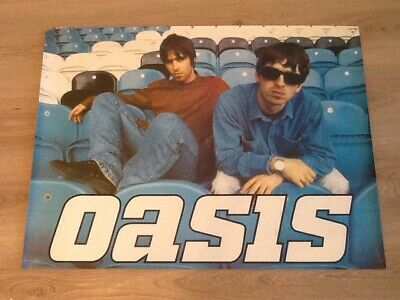Rare 1990s Noel & Liam Gallagher Oasis Poster@Manchester City Maine Road 30 x 22
