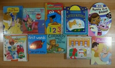 BOARD BOOKS FOR CHILDREN! Assorted characters and themes! Lot of 10! FREE SHIP!