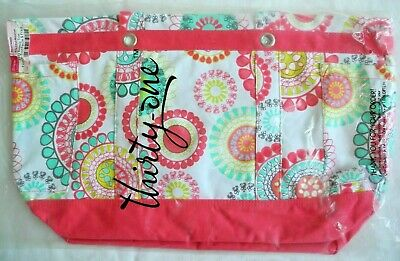 THIRTY-ONE ~Retired~ EASY BREEZY TOTE in CITRUS MEDALLION Large Utility (NIP)