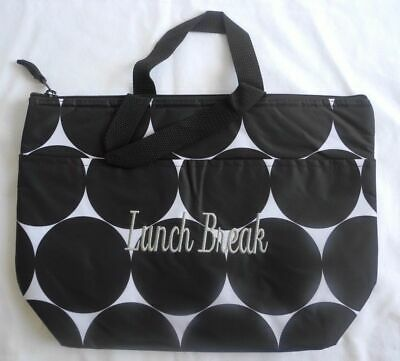 Thirty-One Thermal Tote in BIG DOT retired print ~personalized: Lunch Break