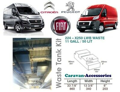 Waste Water Tank Kit For Ducato, Boxer, Relay XLWB X250/290 Campervan