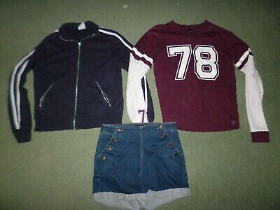 Girl's 'Look,' 'H&M' & 'Kylie' tops and shorts – USED – fits 12+