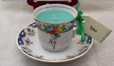 Vintage Bone China Candle Tea Cup & Saucer