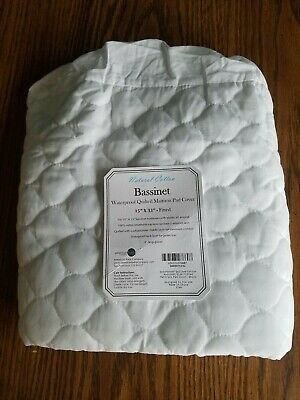American Baby Cotton Bassinet Waterproof Quilted Mattress Pad Cover NEW