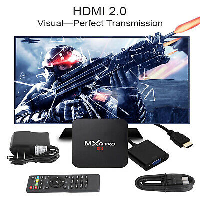 2020 2.4GHz Wifi Android 7.1 Quad Core Lecteur multimédia 4K 3D Smart TV Box