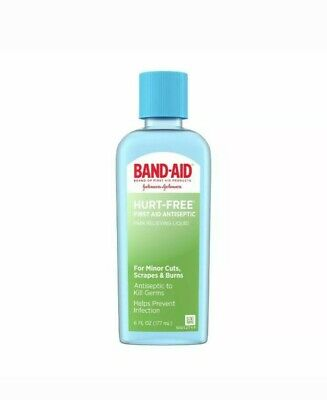 BAND-AID Hurt-Free First AID Antiseptic Wash, 6 oz (Pack of 2)
