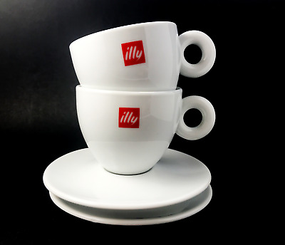 ILLY LARGE CAPPUCCINO Cups 12oz £14.95 | PicClick UK