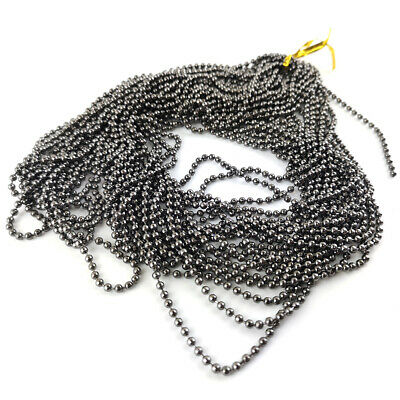 10m x Antique Bronze Anti Tarnish Iron Alloy 1.5mm Closed Ball Chain CH1735