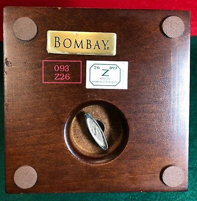 Vintage Wooden Musical Jewelry Box by BOMBAY - Made in Taiwan