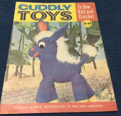 """Vintage Craft - Collectable """"- Sew/ Knit / Crochet Toys """"- Booklet 23 Pages"""