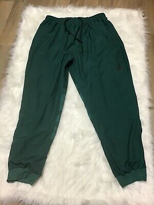 Adidas Mens XL Spell Out Joggers Jogger Pants Green Camouflage Polyester