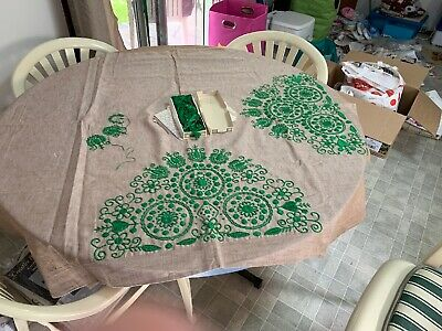 Embroidered Tablecloth To Be Completed