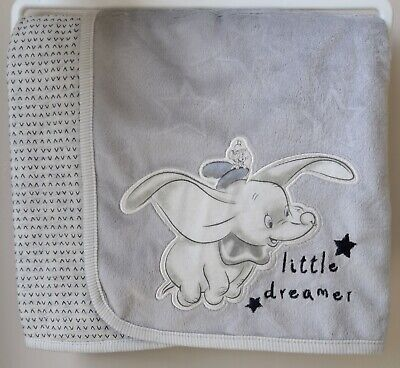 Disney Baby Boys Dumbo Fleece Blanket Adorable Newborn Gift BNWT