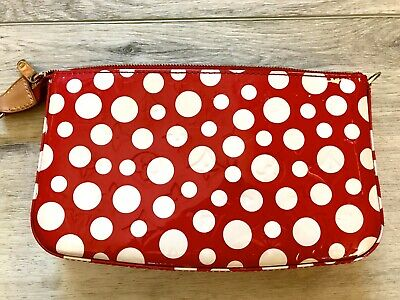 Limited Edition Louis Vuitton Yayoi Kusama Infinity Red Dots Vernis Pochette
