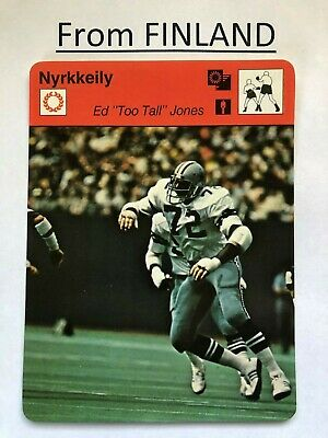"Ed ""Too Tall"" JONES 1980 FINNISH #92-2207 Sportscaster - Finland DALLAS COWBOYS"