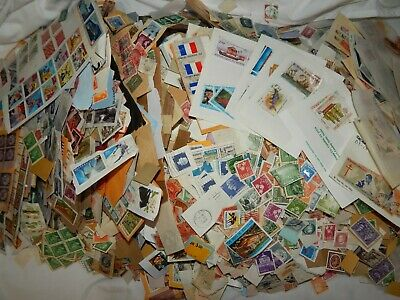Postage Stamps + Estate Find 6 lbs Mixed Bulk Vtg USA Worldwide Mixed Unsorted