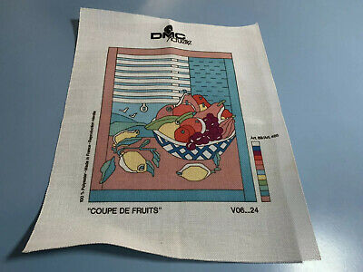 DMC Actuelle Made in France Unworked Tapestry Canvas - Fruit Bowl
