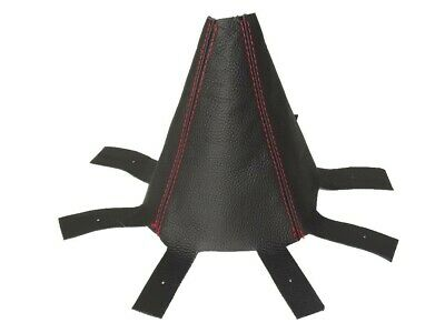Gear Gaiter For Honda CR-V 2006-2012 Black Leather Red Stitching