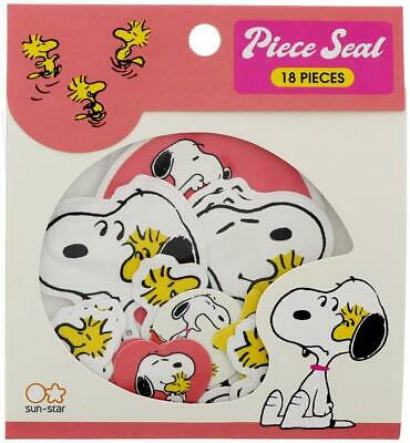 Peanuts Snoopy Woodstock die-cut sticky stickers 18pieces